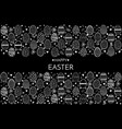 happy easter greeting card hand drawing eggs vector image vector image