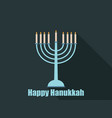 happy hanukkah hanukkah candles flat design with vector image vector image
