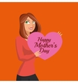 Happy mothers design white background vector image vector image