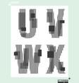 letter font template modern design vector image vector image