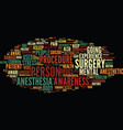 like a lamb to the slaughter anesthesia awareness vector image vector image