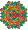 Mandala round ornament pattern with floral