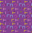 memphis patterns background vector image