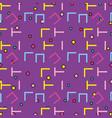 memphis patterns background vector image