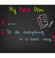 My best plan vector image