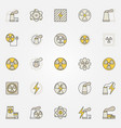nuclear power colorful icons set vector image vector image