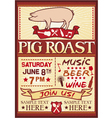 pig roast poster vector image