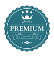Premium quality labels and badges vector image vector image