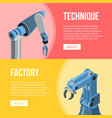 robotic arms of conveyor vector image