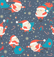Seamless Christmas pattern with Cute Santa Claus vector image vector image