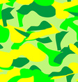 Seamless Pattern of Camouflage in Bright Colors vector image