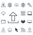 set of 16 internet icons includes team pc vector image vector image