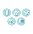 set of flat icon communication vector image