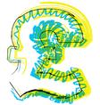 Sketch Pound Symbol vector image vector image