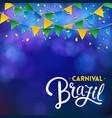 square carnival brazil banner vector image