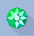 star emerald icon flat style vector image vector image