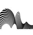 stripe wave background design with black and white vector image vector image