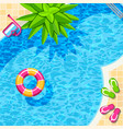 swimming pool top view for relax background vector image