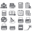 tools learning icon set 4 vector image vector image
