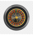 top view roulette casino mockup realistic style vector image