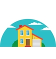 Townhouse Flat House vector image vector image