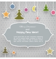 Vintage Christmas card with ornaments vector image vector image