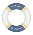 big marine lifebuoy ring with rope isolated on vector image