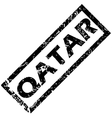 QATAR rubber stamp vector image