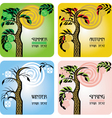 set of four seasons cards vector image