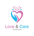 love and care logo vector image
