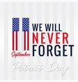 9 11 patriot day usa banner vector image vector image