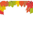 abstract autumn leaves background vector image vector image