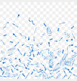 abstract background with falling blue confetti vector image