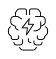 abstract monochrome brainstorming icon vector image