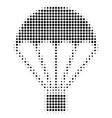 black pixel parachute icon vector image