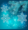 Blue Christmas Holiday BackGround vector image
