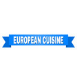blue stripe with european cuisine text vector image