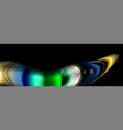 Bright colorful liquid fluid lines on black