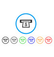 cashout slot rounded icon vector image vector image