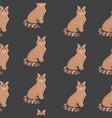 cat seamless pattern cute kitten in vector image