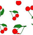 cherries colored hand drawn sketch seamless vector image vector image