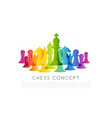 chess colorful leadership or strategy conceptual vector image vector image