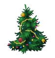 Christmas tree with decorations isolated vector image vector image