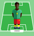 Computer game Cameroon Football club player vector image