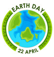 concept earth day poster vector image