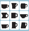 cup silhouettes set vector image vector image