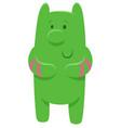 cute green fantasy cartoon character vector image