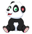 cute panda cartoon sitting vector image vector image