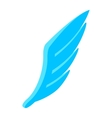 Cyan wing icon isometric 3d style vector image