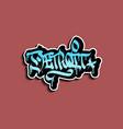 detroit michigan hand lettering graffiti tag vector image vector image